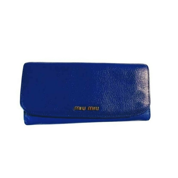 Miu Miu Handbags - ❤❤SALE💜💜MIU💚💚FLAP WALLET❤️❤️